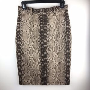 Tracy Reese Snakeskin Print Pencil Skirt Sz 6
